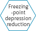 Freezing-point depression reduction